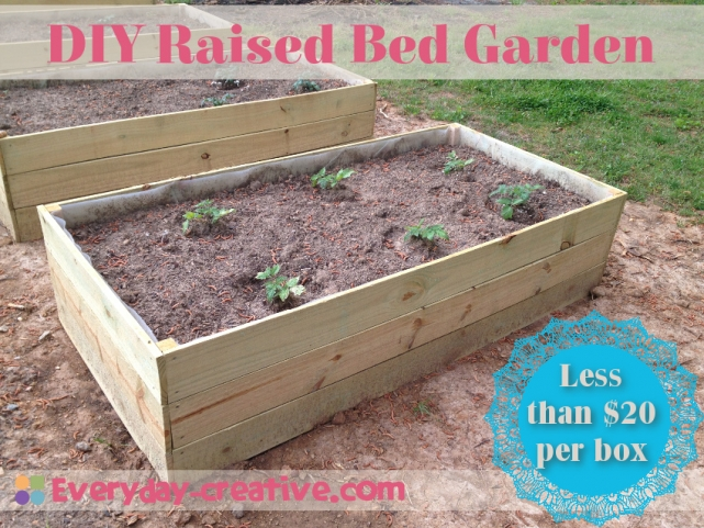 Raised Bed Garden Quick and Cheap Everyday Creative
