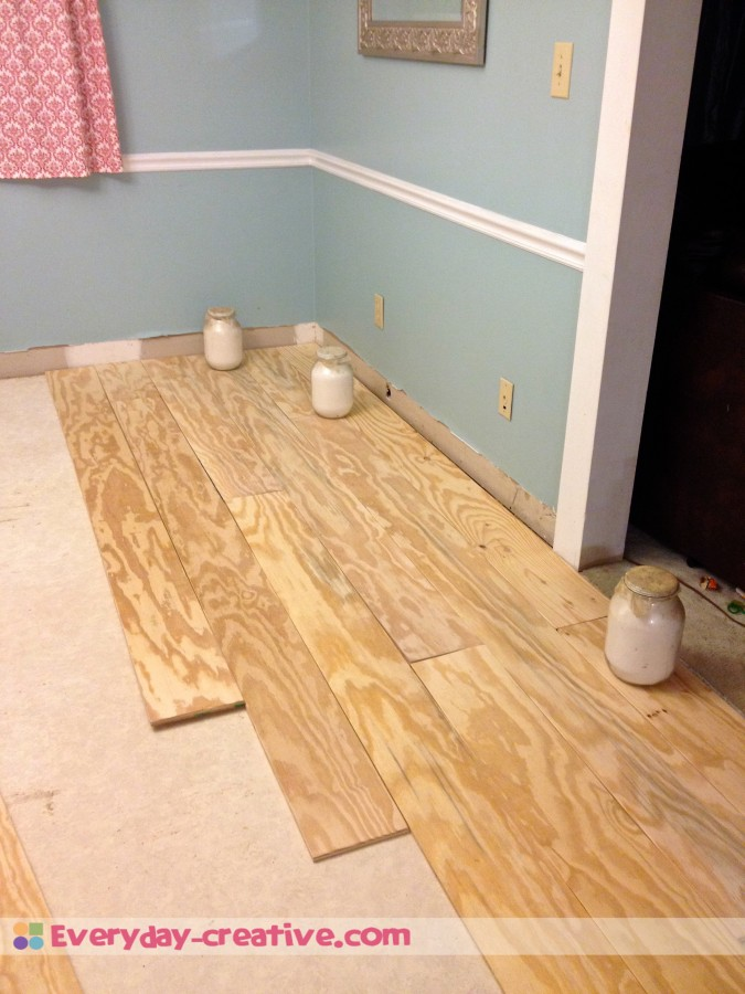 Plywood Plank Flooring An Inexpensive Replacement For Wood Part 1 Everyday Creative